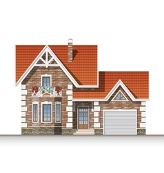 Beautiful brick house vector