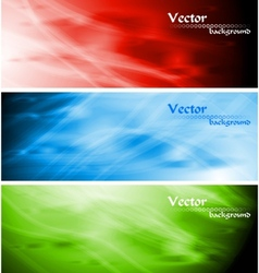 colourful wavy backgrounds vector image vector image