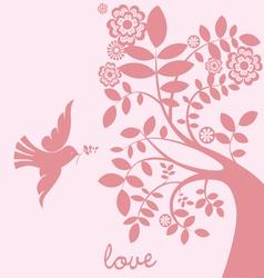love tree dove vector image
