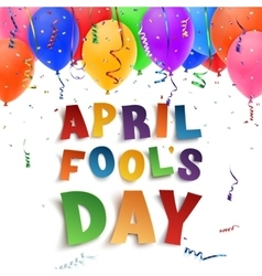 April Fools Day background on white vector image vector image