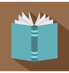 Open thick book icon flat style vector