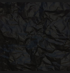 black crumpled paper vector image