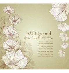 congratulatory floral background vector image vector image