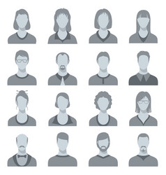 Female and male head silhouettes user vector