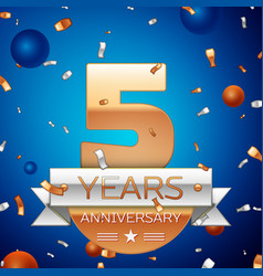 Five years anniversary celebration design vector
