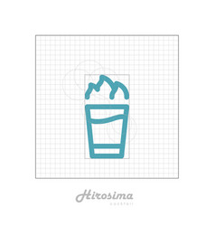 icon of cocktail with modular grid hirosima vector image