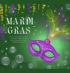 mardi gras carnival poster invitation greeting vector image vector image
