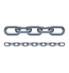 Metal chain links vector image vector image