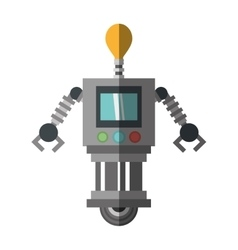technology robot bulb light display shadow vector image