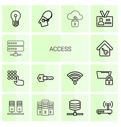14 access icons vector