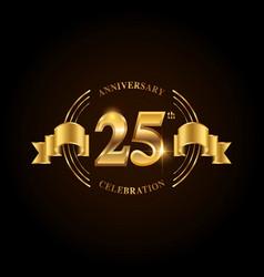 25 years anniversary celebration logotype golden vector