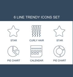 6 trendy icons vector