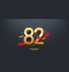 82nd year anniversary background vector