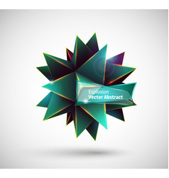 Abstract explosion polyhedron vector