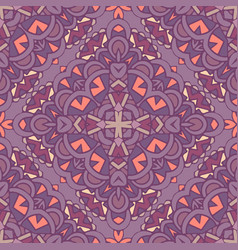 abstract tile decorative ornament damask vector image