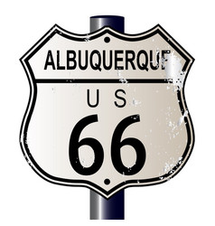 Albuquerque route 66 sign vector