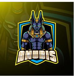 Anubis sport mascot logo design vector