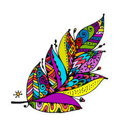 art feather for your design vector image