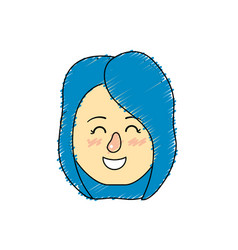Avatar woman head with hairstyle design vector