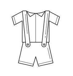 Baby clothes line icon vector