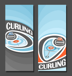 Banners for curling game vector