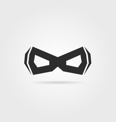 black simple superhero mask with shadow vector image