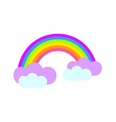 bright rainbow icon flat cartoon style vector image