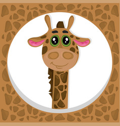 brown giraffe cartoon icon vector image