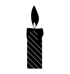 Candle icon simple style vector