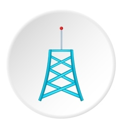 Cell phone tower icon cartoon style vector