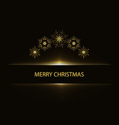 christmas greeting poster with snowflakes vector image