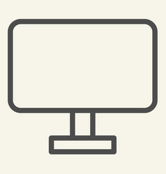 computer monitor line icon pc screen vector image