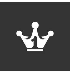 Crown Icon logo element for template vector image