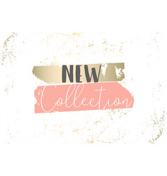 Elegant set chic trendy abstract marble gold vector