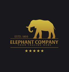 elephant company logo or emblem logo vector image