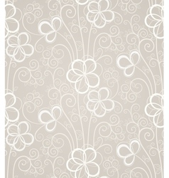 Excellent swirl floral seamless background vector
