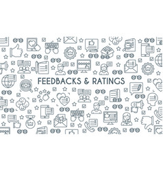 Feedbacks and ratings banner vector