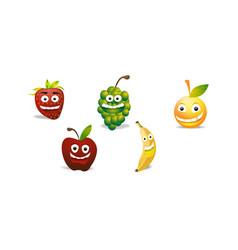 Fruit emoji set vector