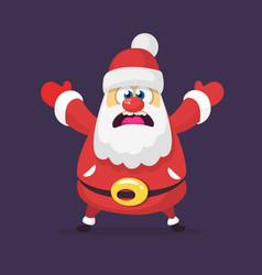 funny cartoon santa claus vector image