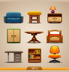 Furniture icons-set 2 vector