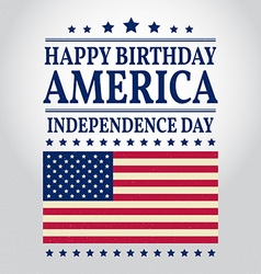 Happy Birthday America vector image