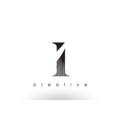I logo design with multiple lines and black and vector