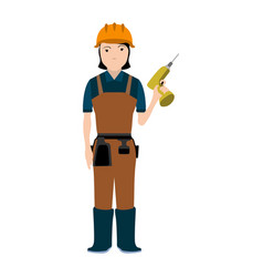 Isolated constructor avatar vector