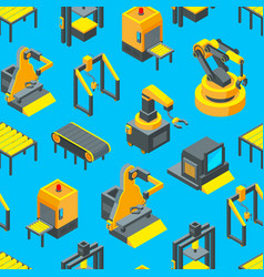 isometric conveyor background or pattern vector image