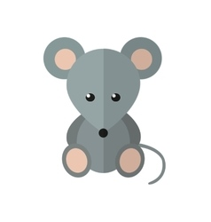 Mouse in flat style vector
