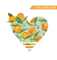 Orange Fruits Graphic Design T-Shirt Fashion Print vector image