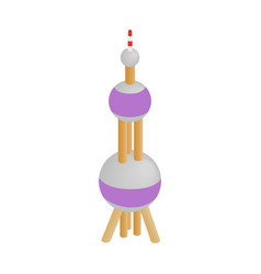Oriental Pearl Tower icon isometric 3d style vector image