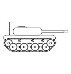 Panzer vector image