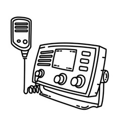 radio telephone icon doodle hand drawn or outline vector image
