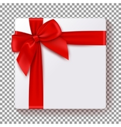 Realistic gift box isolated on transparent vector image